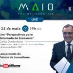 FIEMS lança Prêmio MS Industrial de Jornalismo de 2021 e promove live com Carlos Sardenberg
