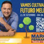 No Dia da Árvore, Marcio Fernandes distribui 150 mudas